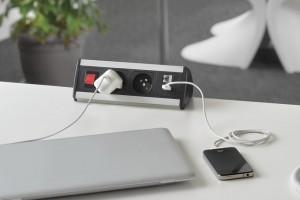 A. & H. MEYER (Германия) предлагает различные модели встраиваемых розеток с электрическими и коммуникационными разъемами.